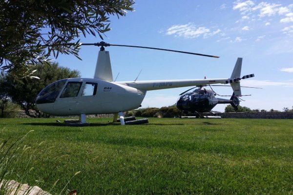 R44 et EC120 dans le jardin