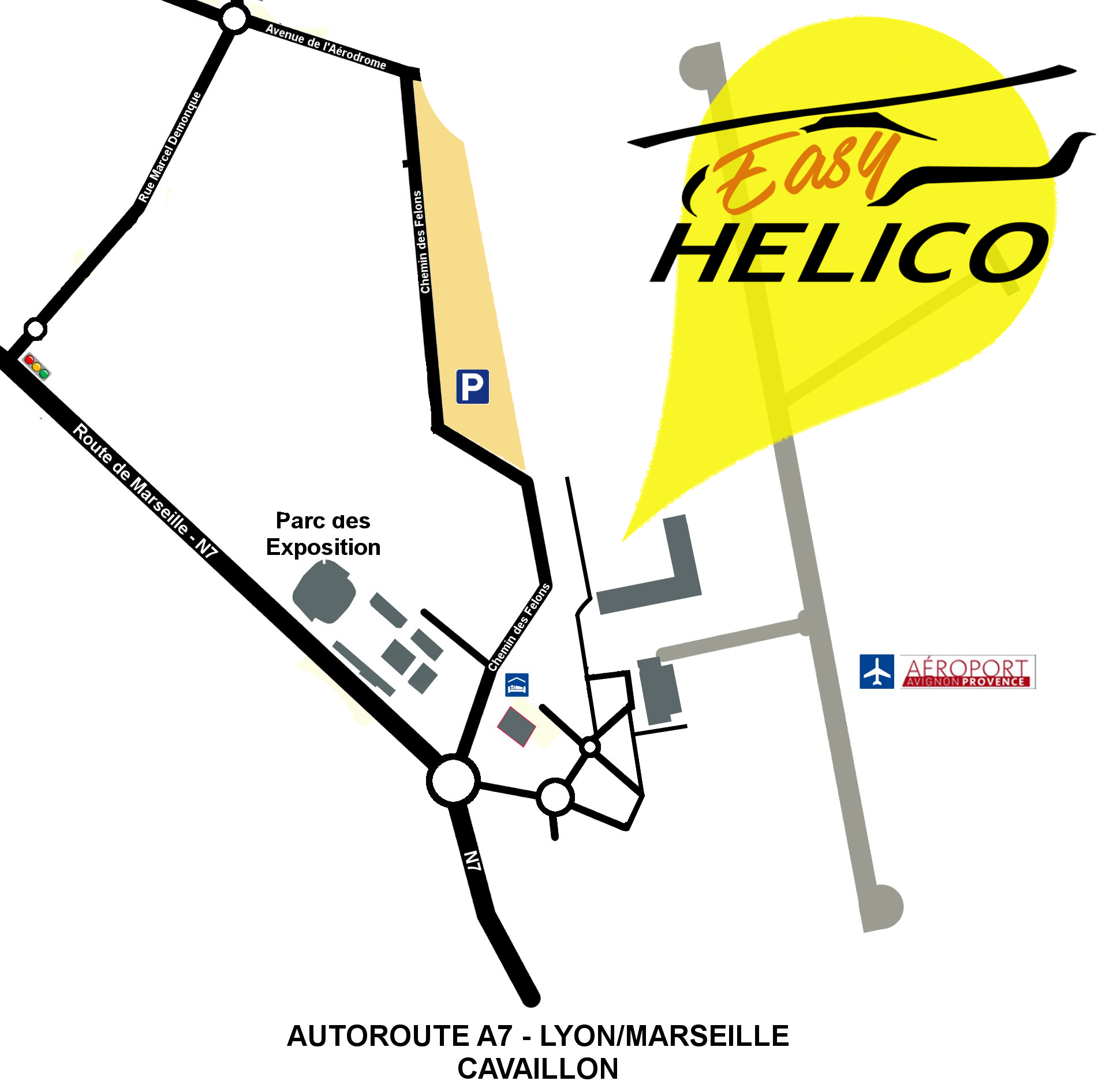 Plan d'accès à Easy Helico