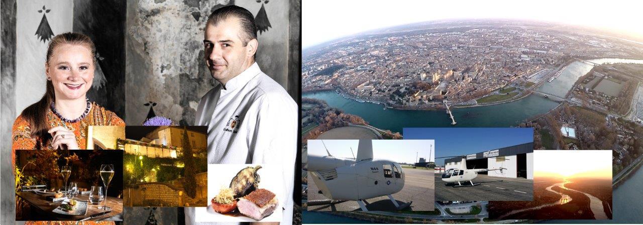 Image du pack hélicoptère et restaurant