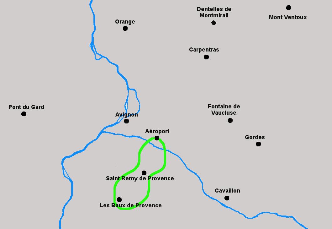 Circuit helicoptere les Alpilles